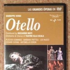 Vídeos e DVD Musicais: OTELLO - VERDI - PLÁCIDO DOMINGO, SCALA DE MILÁN, RICCARDO MUTI . Lote 180423500