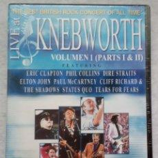 Vídeos y DVD Musicales: VARIOS - LIVE AT KNEBWORTH VOL 1 PARTS 1&2 - DVD ESPAÑOL 2002 - EAGLE VISION - PRECINTADO / NUEVO. Lote 182863123