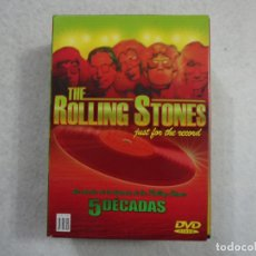 Vídeos y DVD Musicales: THE ROLLING STONES JUST FOR THE RECORD - 5 DÉCADAS - 4 DVDS . Lote 182903961