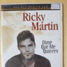 Vídeos y DVD Musicales: RICKY MARTIN -DIME QUE ME QUIERES DVD. Lote 183530481