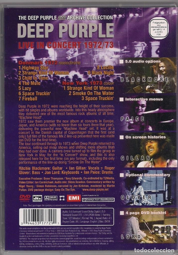 Vídeos y DVD Musicales: DEEP PURPLE - Live in Concert 72/73 - DVD - Foto 2 - 184213776