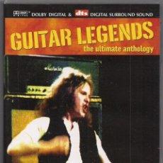Vídeos y DVD Musicales: GUITAR LEGENDS - THE ULTIMATE ANTHOLOGY - DTS - DVD. Lote 184214313