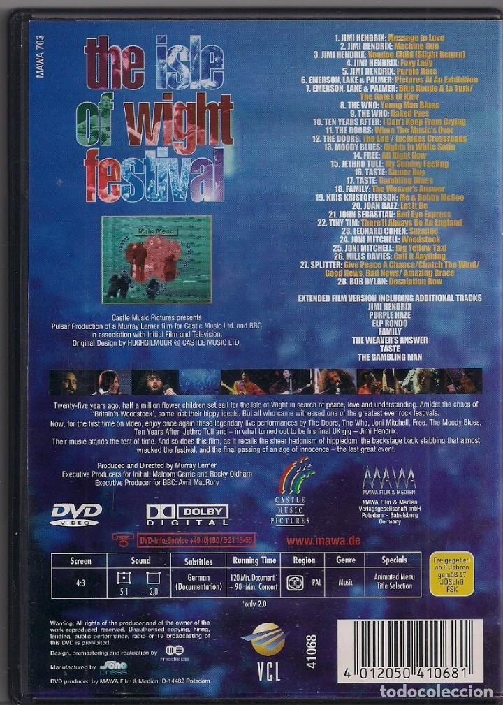 Vídeos y DVD Musicales: The Isle of Wight festival - The movie - Message to Love - DVD - Foto 2 - 184214745