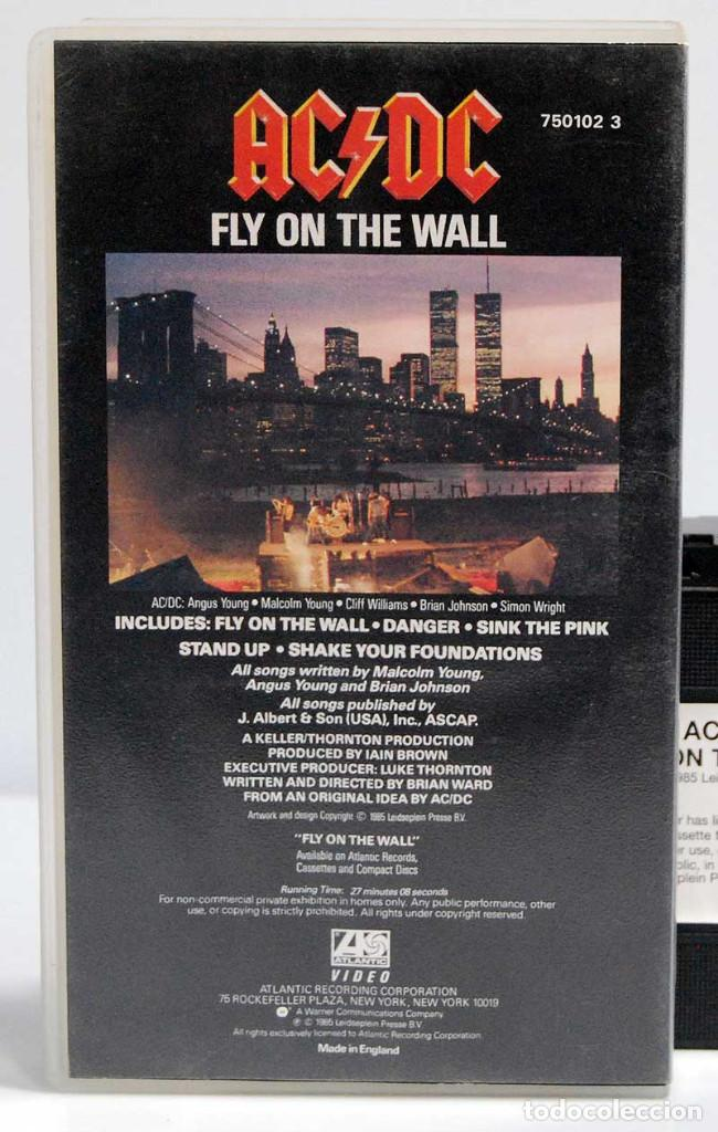 Vídeos y DVD Musicales: AC/DC - Fly on the Wall. VHS UK - Foto 2 - 185660497