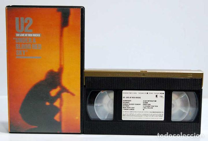 U2 - UNDER A BLOOD RED SKY. LIVE AT RED ROCKS. VHS (Música - Videos y DVD Musicales)