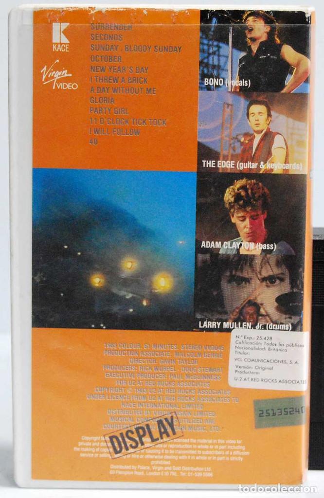 Vídeos y DVD Musicales: U2 - Under a Blood Red Sky. Live at Red Rocks. VHS - Foto 2 - 185660650