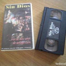 Vídeos y DVD Musicales: SIN DIOS- MAS DE 10 AÑOS VHS. Lote 185692516