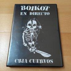 Vídeos y DVD Musicales: DVD BOIKOT CRIA CUERVOS EN DIRECTO SALA CANCILLER 1995 COMO NUEVO ROCK PUNK. Lote 185775963
