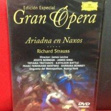Vídeos y DVD Musicales: ARIADNA EN NAXOS, RICHARD STRAUSS, GRAN OPERA EDICION ESPECIAL, PRECINTADO. Lote 185893040