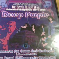 Vídeos y DVD Musicales: DEEP PURPLE CONCERTO FOR GROUP AND ORCHESTRA IN LIVE WITH THE ROYAL PHILARMONIC ORCHESTRA DVD. Lote 186043551