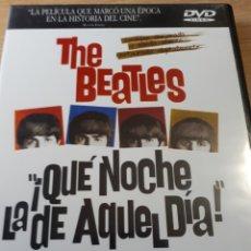 Vídeos y DVD Musicales: THE BEATLES A HARDS DAY S NIGHT QUE NOCHE LA DE AQUEL DIA DOBLE DVD. Lote 227688145