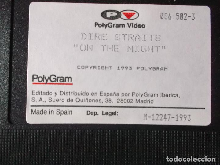 Vídeos y DVD Musicales: DIRE STRAITS ON THE NIGHT, VHS - Foto 3 - 187437052