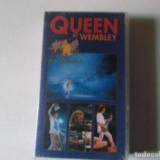 Vídeos y DVD Musicales: QUEEN AT WEMBLEY, 1990, VHS. Lote 187437205