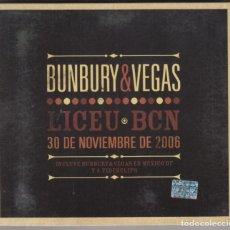 Vídeos y DVD Musicales: BUNBURY & VEGAS DVD LICEU BCN 2006 NTSC EDICIÓN MÉXICO. Lote 187515321