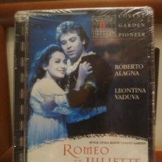 Vídeos y DVD Musicales: DVD OPERA PIONEER ROMEO Y JULIETA ROBERTO ALAGNA LEONTINA VADUVA PRECINTADO PEPETO. Lote 188763278