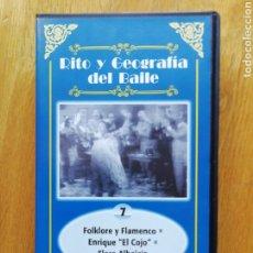 Vídeos y DVD Musicales: COLECCIÓN RITO Y GEOGRAFÍA DEL BAILE. VHS ALBA EDITORES 1999. Lote 189147187