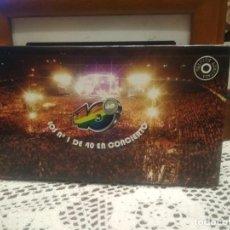 Vídeos y DVD Musicales: LOS NÚMERO 1 DE LOS 40 EN CONCIERTO - LIBRO EN TAPA DURA + 2 DVD - EDICIÓN LIMITADA AÑO 2006 PEPETO. Lote 189509286