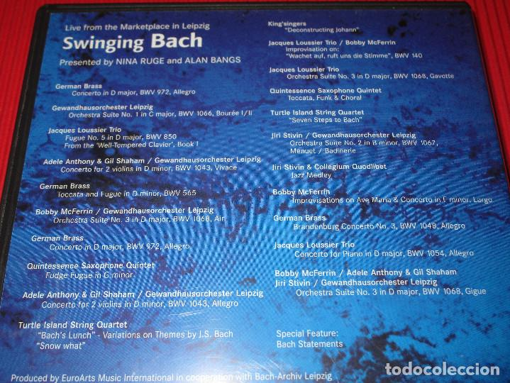 Vídeos y DVD Musicales: SWINGING BACH - DVD - DV-BASBL - TDK - LIVE FROM THE MARKETPLACE IN LEIPZIG - Foto 4 - 189551086