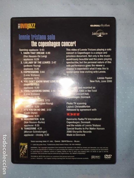Vídeos y DVD Musicales: Lennie Tristano Solo The Copenhagen Concert DVD DVDJAZZ - Foto 2 - 189698090