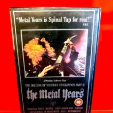 Vídeos y DVD Musicales: THE METAL YEARS ... IS SPINAL TAP FOR REAL!!. Lote 191286408