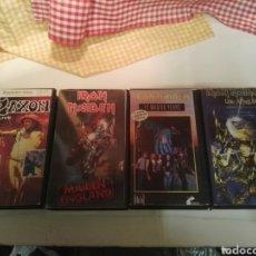 Vídeos y DVD Musicales: CINTAS VIDEO 3 IRON MAIDEN Y 1 DE SAXON VHS. Lote 192077623