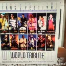 Vídeos y DVD Musicales: LIBRETO WORLD TRIBUTE MUSICAL LIBRO DVD QUEEN - M JACKSON - ABBA- ROLLING -KISS - RAFAELA ETC PEPETO. Lote 192084075