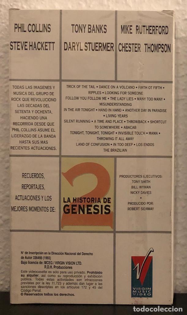 Vídeos y DVD Musicales: GENESIS, LA HISTORIA. - VHS - - Foto 2 - 192096633