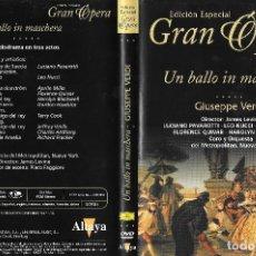 Vídeos y DVD Musicales: UN BALLO IN MASCHERA - GIUSEPPE VERDI - EDICIÓN ESPECIAL GRAN ÓPERA. Lote 193204283