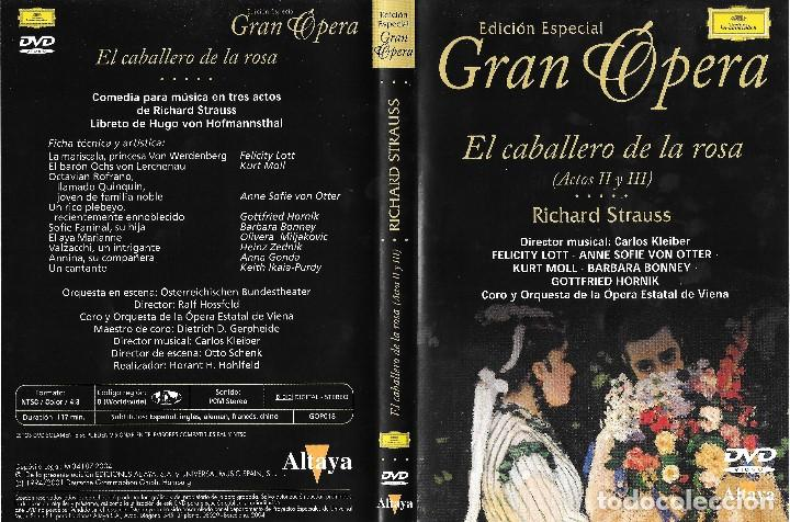 Vídeos y DVD Musicales: EL CABALLERO DE LA ROSA - RICHARD STRAUSS - EDICIÓN ESPECIAL GRAN ÓPERA - Foto 2 - 193306651