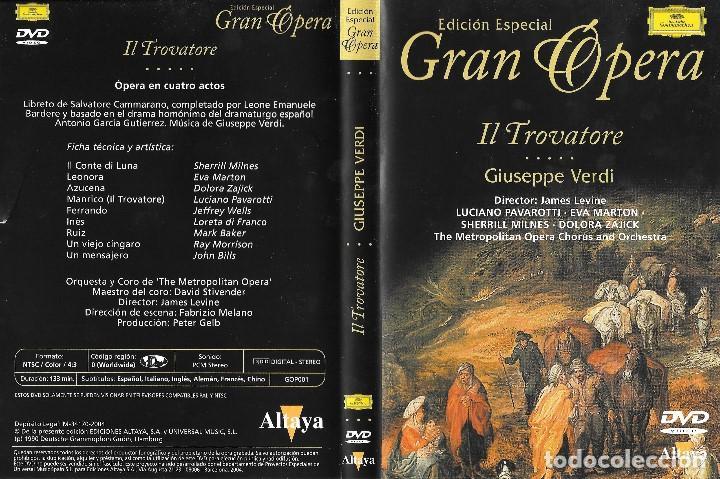 IL TROVATORE - GIUSEPPE VERDI - EDICIÓN ESPECIAL GRAN ÓPERA (Música - Videos y DVD Musicales)