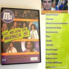 Vídeos y DVD Musicales: CD VÍDEO COMP. DVD - LO MEJOR DE MÚSICA SÍ TVE BISBAL CHENOA BUSTAMANTE ESTOPA FERGÓ SPICE GIRLS ETC. Lote 194140303