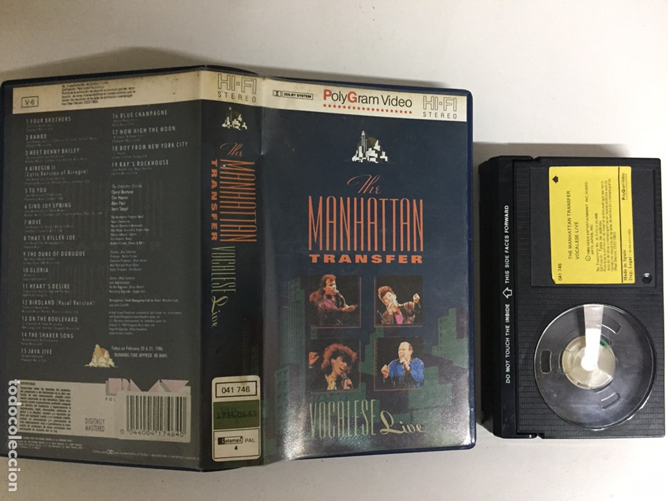 Vídeos y DVD Musicales: Beta - The Manhattan Transfer: Vocalese Live - PolyGram Video - Foto 1 - 194241650