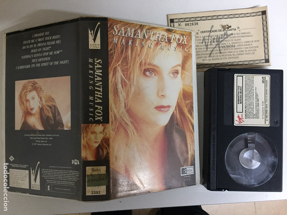 BETA - SAMANTHA FOX: MAKING MUSIC - VIRGIN VISION (Música - Videos y DVD Musicales)