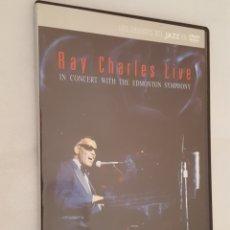 Vídeos y DVD Musicales: DVD MUSICA / RAY CHARLES LIVE IN CONCERT WITH THE EDMONTON SYMPHONY / NUEVA, CAJA DELGADA.. Lote 194518763