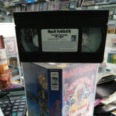 Vídeos y DVD Musicales: IRON MAIDEN VHS THE FIRST TEN YEARS THE VIDEOS 1990. Lote 194576881