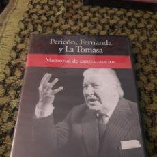Vídeos y DVD Musicales: PERICON, FERNANDA Y LA TOMASA. MEMORIAL DE CANTES RANCIOS. EDICION RBA DE 2005. NUEVO PRECINTADO. Lote 194581208
