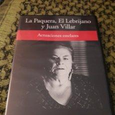 Vídeos y DVD Musicales: LA PAQUERA, EL LEBRIJANO Y JUAN VILLAR. ACTUACIONES ESTELARES. EDICION RBA DE 2005. RARO. Lote 194582203