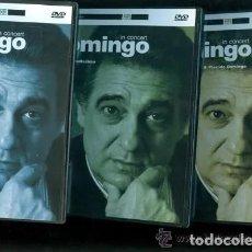 Vídeos y DVD Musicales: 3 DVDS MUSICALES ** PLACIDO DOMINGO IN CONCERT ** 1990-1991. Lote 194607112