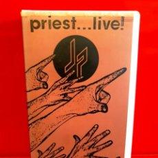 Vídeos y DVD Musicales: JUDAS PRIEST – PRIEST... LIVE! VHS, 1987 HEAVY METAL. Lote 194638862