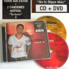 Vídeos y DVD Musicales: CD + DVD LUIS FONSI ÉXITOS 98 06 CANTANTE LATINO MÚSICA POP TU AMOR MI SUEÑO PERDÓNAME ME MATAS ETC. Lote 194710378