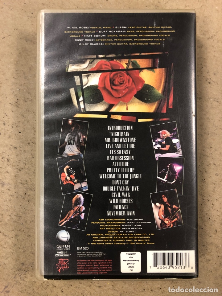 """Vídeos y DVD Musicales: - VHS - GUNS N' ROSES """"USE YOUR ILUSION I WORLD TOUR (1992 TOKYO)"""" - Foto 3 - 194895245"""