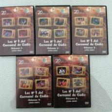 Vídeos y DVD Musicales: 5 DVD-COLECCIÓN LOS NÚMEROS 1 DE CARNAVAL DE CÁDIZ. DESDE 1990,A,2008-CANAL SUR. VER DESCRIPCIONES.. Lote 195171250