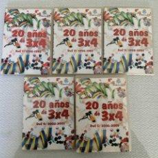 Vídeos y DVD Musicales: 5 DVD, 20 AÑOS DE 3X4 CARNAVAL DEL AÑO 1990 AL 2009.CANAL SUR VER FOTOS.. Lote 195180921