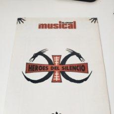 Vídeos y DVD Musicales: EL GRAN MUSICAL. MONOGRÁFICO HÉROES DEL SILENCIO. SENDEROS DE TRAICIÓN. AÑO 1991. Lote 195252466