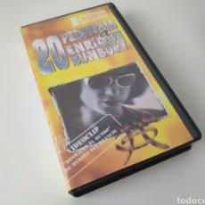 Vídeos y DVD Musicales: 20 PREGUNTAS A ENRIQUE BÚNBURY. HÉROES DEL SILENCIO. AÑO 1996.. Lote 195256268
