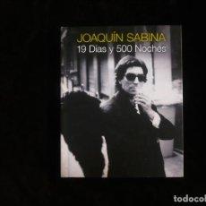 Vídeos y DVD Musicales: JOAQUIN SABINA 19 DIAS Y 500 NOCHES - FORMATO LIBRO CON 2 CD Y UN DVD. Lote 195324305
