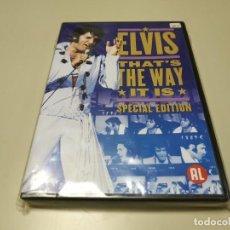 Vídeos y DVD Musicales: 0220- ELVIS THATS THE WAY IT IS SPECIAL DVD NUEVO REPRECINTADO LIQUIDACIÓN. Lote 195390015