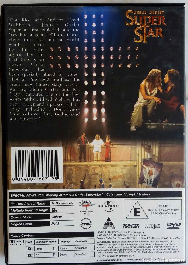 Vídeos y DVD Musicales: JESUS CHRIST SUPER STAR. A NEW STAGE PROUCTION. GLENN CARTER. RICK MAYALL. DVD EN CAJA DE CARTON - Foto 2 - 195390111