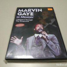 Vídeos y DVD Musicales: 0220- MARVIN GAYE IN MEMORY DVD NUEVO REPRECINTADO LIQUIDACIÓN. Lote 195390113