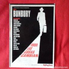 Vídeos y DVD Musicales: BUNBURY PORQUE LAS COSAS CAMBIAN. JAVIER ALVERO FORMATO PACK CARTON. Lote 195458478